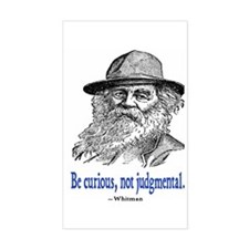 WHITMAN QUOTE Rectangle Decal