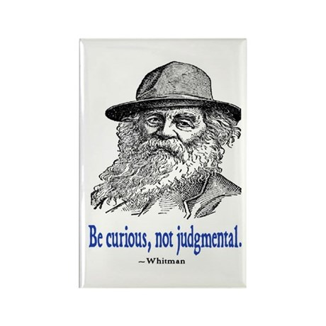 WHITMAN QUOTE Rectangle Magnet