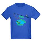 Lolo's Fishing buddy Kids Dark T-Shirt