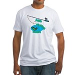 Lolo's Fishing buddy Fitted T-Shirt