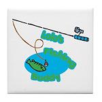 Lolo's Fishing buddy Tile Coaster