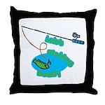 Lolo's Fishing buddy Throw Pillow