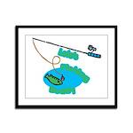 Lolo's Fishing buddy Framed Panel Print