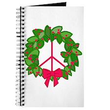 Holly Wreath Peace Sign Journal