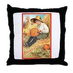 Pumpkin Carving Throw Pillow