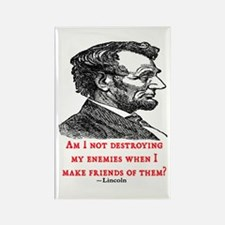 LINCOLN ENEMIES QUOTE Rectangle Magnet