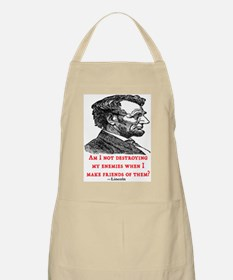 LINCOLN ENEMIES QUOTE BBQ Apron