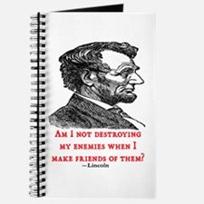 LINCOLN ENEMIES QUOTE Journal
