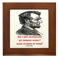 LINCOLN ENEMIES QUOTE Framed Tile