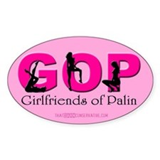 Girlfriends of Palin Oval Decal