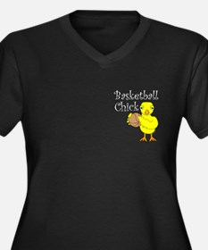 Basketball Chick Women's Plus Size V-Neck Dark T-S