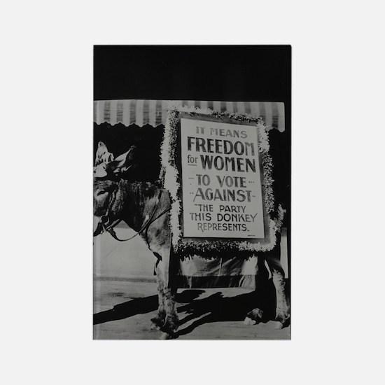 Suffragists Against Democrats (1916) Magnet