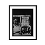 Suffragists Against Democrats Framed Panel Print