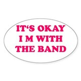 I m with band Stickers