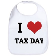 I Love TAX DAY Bib