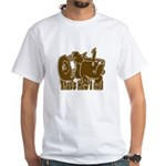 Retro That's How I Roll Tract White T-Shirt