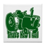 Retro That's How I Roll Tract Tile Coaster