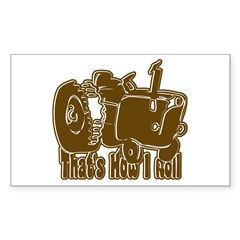 Retro That's How I Roll Tract Rectangle Decal
