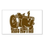 Retro That's How I Roll Tract Rectangle Sticker
