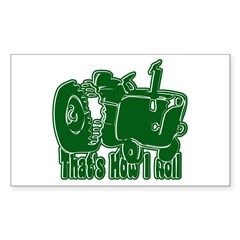 Retro That's How I Roll Tract Rectangle Sticker 1