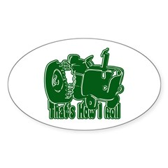 Retro That's How I Roll Tract Oval Decal