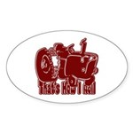 Retro That's How I Roll Tract Oval Sticker (10 pk)