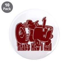 """Retro That's How I Roll Tract 3.5"""" Button (10"""