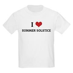 I Love SUMMER SOLSTICE Kids T-Shirt
