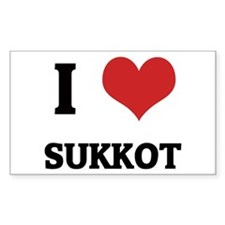 I Love SUKKOT Rectangle Decal