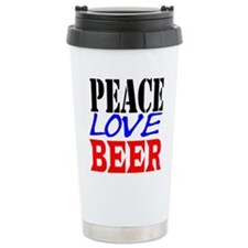 PEACE, LOVE, BEER Travel Mug