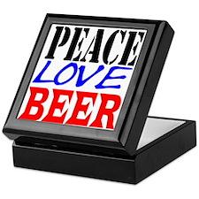 PEACE, LOVE, BEER Keepsake Box