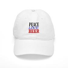 PEACE, LOVE, BEER Baseball Cap