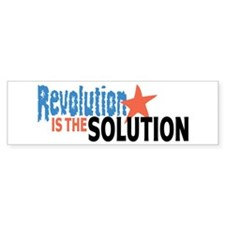 Revolutiion is the Solution Bumper Sticker (10 pk)