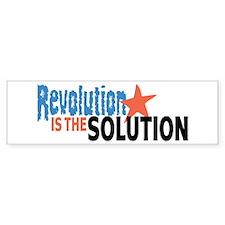 Revolutiion is the Solution Bumper Bumper Sticker