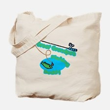 Great Grandpa's Fishing Buddy Tote Bag