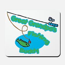Great Grandpa's Fishing Buddy Mousepad