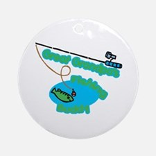 Great Grandpa's Fishing Buddy Ornament (Round)