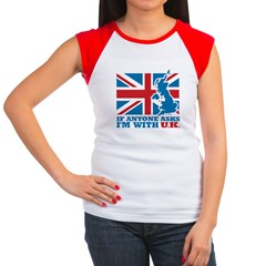 I'm With UK Women's Cap Sleeve T-Shirt