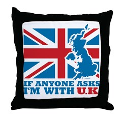 I'm With UK Throw Pillow