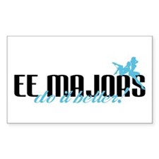 EE Majors Do It Better! Rectangle Decal