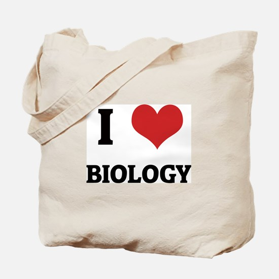 I Love Biology Tote Bag