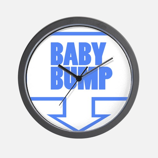 BABY BUMP BABY BLUE Wall Clock