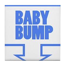 BABY BUMP BABY BLUE Tile Coaster