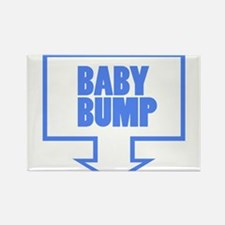 BABY BUMP BABY BLUE Rectangle Magnet