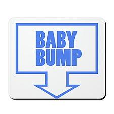 BABY BUMP BABY BLUE Mousepad