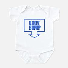 BABY BUMP BABY BLUE Infant Bodysuit