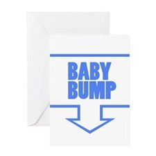 BABY BUMP BABY BLUE Greeting Card