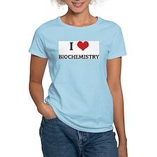 I Love Biochemistry Women's Pink T-Shirt