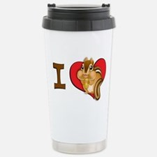 I heart chipmunks Thermos Mug