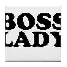 BOSS LADY Tile Coaster